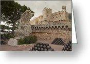Cannonball Greeting Cards - Statue At The Prince Of Monacos Palace Greeting Card by Greg Dale