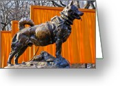 Central Park Photo Greeting Cards - Statue of Balto in NYC Central Park Greeting Card by Anthony Sacco