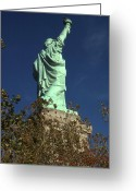 Photo-realism Digital Art Greeting Cards - Statue of Liberty - New York City Greeting Card by Peter Art Prints Posters Gallery