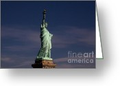 C Casch Greeting Cards - Statue Of Liberty Greeting Card by C Casch