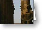 African Heritage Photo Greeting Cards - Statue Of Ramses Ii In The Luxor Temple Greeting Card by Kenneth Garrett