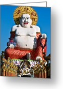 Face Shadow Greeting Cards - Statue Of Shiva Greeting Card by Adrian Evans