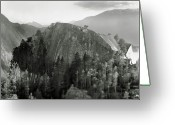 Horizon Over Land Greeting Cards - Stawamus Chief, Squamish, British Columbia, Canada, Tilt-shift Greeting Card by Brian Caissie
