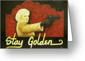 Clandestine Greeting Cards - Stay Golden Greeting Card by Matthew Powell