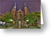 New York New York Com Greeting Cards - Ste. Anne de Detroit Greeting Card by Nicholas  Grunas