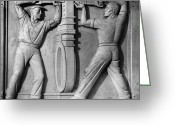 Relief Work Photo Greeting Cards - Stea: Sewage Workers Greeting Card by Granger