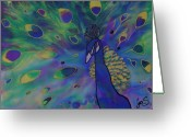 Feathers Greeting Cards - Stealing the Show Greeting Card by Joanne Smoley