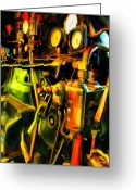 Johnny Trippick Greeting Cards - Steam Driven Thing Greeting Card by Johnny Trippick