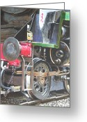 Trains Painting Greeting Cards - Steam Engine Bulleid Merchant Navy Pacific 30005 Study Greeting Card by Martin Davey