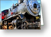 Locomotive Greeting Cards - Steam Locomotive Engine 1215 . 7D12980 Greeting Card by Wingsdomain Art and Photography