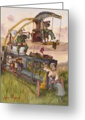 Cheese Greeting Cards - Steam Powered Rodent Remover Greeting Card by Jeff Brimley