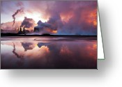 Geothermal Greeting Cards - Steam Rising From Svartsengi Greeting Card by Ingólfur Bjargmundsson