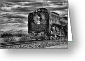 Arizona Greeting Cards - Steam Train No 844 - IV Greeting Card by Donna Van Vlack