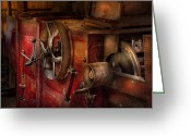 Featured Greeting Cards - Steampunk - Gear - It used to work Greeting Card by Mike Savad