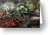 Lever Greeting Cards - Steampunk - Machine - Transportation of the future Greeting Card by Mike Savad