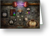 Featured Greeting Cards - Steampunk - The Modulator Greeting Card by Mike Savad