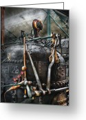 Thank You Greeting Cards - Steampunk - The Steam Engine Greeting Card by Mike Savad