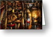 Mechanical Greeting Cards - Steampunk - Mechanica  Greeting Card by Mike Savad