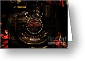 Subculture Greeting Cards - Steampunk Port Huron Steam Engine Washer Model8613 . A Luxury For The Little Lady of The House.Sepia Greeting Card by Wingsdomain Art and Photography