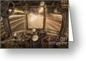 Trolley Greeting Cards - Steampunk Time Machine Greeting Card by Keith Kapple