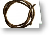 Old Things Greeting Cards - Steel cable Greeting Card by Tony Cordoza