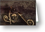 V Twin Greeting Cards - Steel Horse Greeting Card by Peter Chilelli