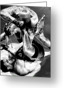 Action Sport Art Greeting Cards - Steel Men Fighting 3 Greeting Card by Frederic A Reinecke