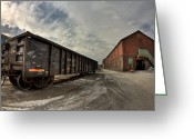 "\""steel Mill\\\"" Greeting Cards - Steel Remains  Greeting Card by Joshua Ball"