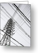 Electricity Greeting Cards - Steel Tower Greeting Card by Ebiq