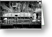 "\""steel Mill\\\"" Greeting Cards - Steel Work Greeting Card by John Rizzuto"