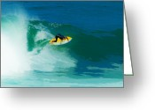 Surf Art La Jolla Digital Art Greeting Cards - Steep Face Cutback Greeting Card by David Rearwin