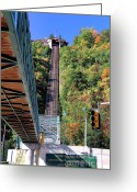 Incline Greeting Cards - Steep Johnstown Incline Greeting Card by John Waclo