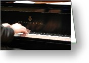 Steinway  Greeting Cards - Steinway Keys 1 Greeting Card by Anita Burgermeister
