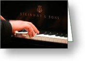Steinway  Greeting Cards - Steinway Keys 3 Greeting Card by Anita Burgermeister