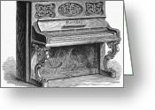 Steinway  Greeting Cards - Steinway Piano, 1878 Greeting Card by Granger