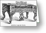 Steinway  Greeting Cards - Steinway Square Piano, 1878 Greeting Card by Granger
