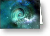 Portal Greeting Cards - Stellar Matter Greeting Card by Corey Ford