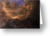 Molecular Clouds Greeting Cards - Stellar Winds Around Wolf-rayet Star 23 Greeting Card by Don Goldman