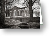 Church Photos Greeting Cards - Steps To The Church Greeting Card by Kathy Jennings