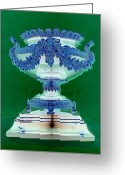 Sterling Silver Greeting Cards - Sterling Urn Greeting Card by Randall Weidner