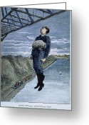 Daredevil Greeting Cards - STEVE BRODIE (c1863-c1901) Greeting Card by Granger