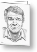 Famous People Drawings Greeting Cards - Steve Martin Greeting Card by Murphy Elliott