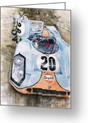 Motorsport Greeting Cards - Steve McQueens Porsche 917K Le Mans Greeting Card by Yuriy  Shevchuk