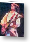Music Greeting Cards - Steve Miller 1978 Greeting Card by Russ Harris
