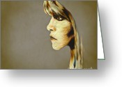 Arne J Hansen Greeting Cards - Stevie Nicks Greeting Card by Arne Hansen