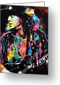 Street Art Greeting Cards - Stevie Ray Vaughan Greeting Card by Dean Russo