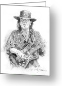 Fender Stratocaster Greeting Cards - Stevies Blues Greeting Card by David Lloyd Glover