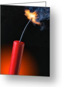Explosives Greeting Cards - Stick of Dynamite Greeting Card by Utah Images