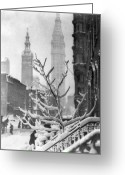 New York City Painting Greeting Cards - STIEGLITZ: NEW YORK, c1914 Greeting Card by Granger