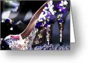 Fashion Greeting Cards - Stiletto Greeting Card by Barb Pearson